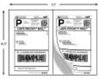 Shipping Labels - 100 Half-Page Shipping Labels for USPS, FEDEX, and UPS - Self Adhesive