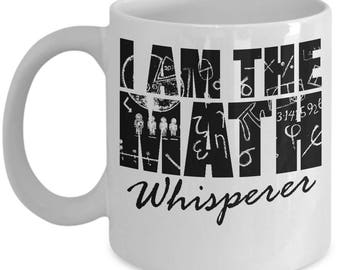 Math Whisperer Mug Teacher Student Math Whiz Gift Coffee Cup