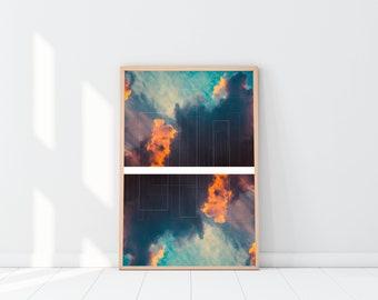 Cloud Abstract | Home Decor | Printable | Wall Art | Download | 16x20