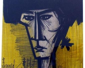 "Bernard Buffet ""Torero"" Original Lithograph printed 1968  -e"