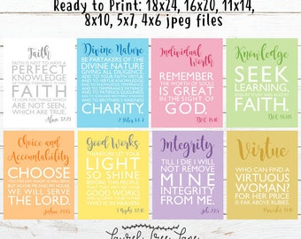 Young Women Value Posters- Digital Download