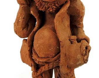 "Clay Figure ""Drinker"" Malawi African Contemporary Craft 81938"