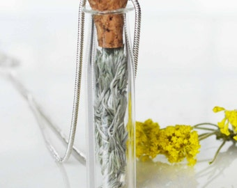 Bottle necklace Colorado Sage from the Continental Divide Sacred Balancing Cleansing Wild sage in a  - Balance and Pure Thought