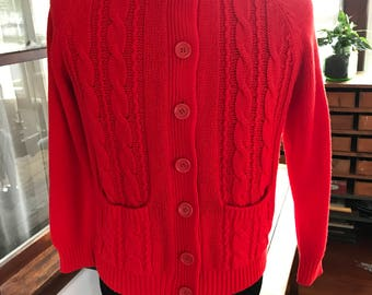 Vintage Button Up Hand Crafted Sweater