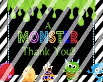 YOU PRINT!!! - Monster Bash Thank you card!