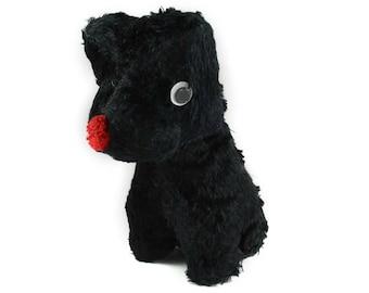 Vintage stuffed animal, scottish terrier, scottie dog, scotty dog, scottie stuffed animal, vintage dog, scottie mom, dog mom, googly eyes