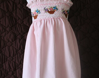 Hand embroidered girl dress, exclusive design