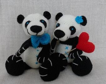 Tutorial or giant panda crochet pattern