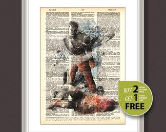 Dictionary Art Print, Muhammad Ali art print, Muhammad Ali dictionary print, Muhammad Ali poster, Nursery Decor, superhero wall art, 3638