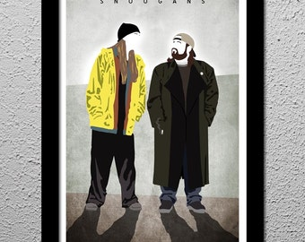 Jay and Silent Bob - Jason Mewes - Kevin Smith - Original Minimalist Art Poster Print