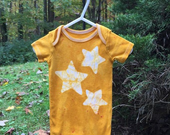 Star Baby Bodysuit, Yellow Baby Bodysuit, Yellow Baby Gift, Gender Neutral Baby Gift, Baby Shower Gift, Baby Boy, Baby Girl (12 months)