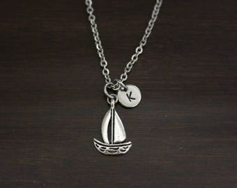 Sailboat Necklace - Sailboat Jewelry - Sailing Lover Gift - Ocean Necklace - Ocean Jewelry - Sailor Jewelry - Sailor Necklace - I/B/H
