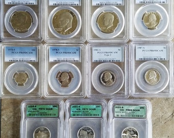 11 Graded Coins also, BU and Circulated Coins for a Total of 69 Coins