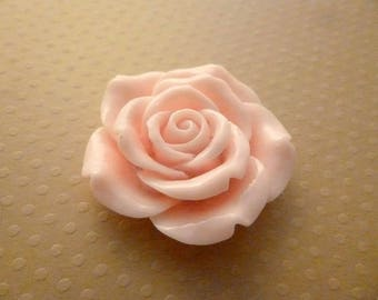 Pink big flower pierced resin 42mm - FR42 9961