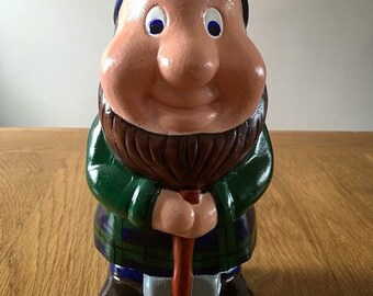 Custom Scottish Gnome wearing customised Tartan Kilt