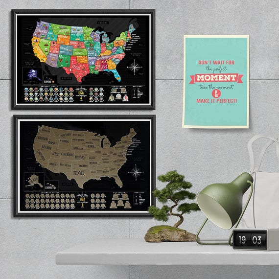 Scratch off map patriotic usa map travel map large premium 50 gumiabroncs Gallery