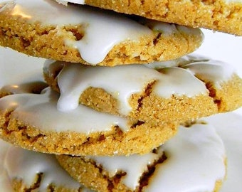 MEGA SALE The Ultimate Iced Molasses Cookies - The Middle Ones - ONE Dozen (12 cookies)