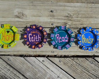 Set of 4 Inspirational 5 inch Coasters or Magnets