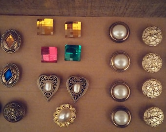 Vintage Button Covers 23 Total