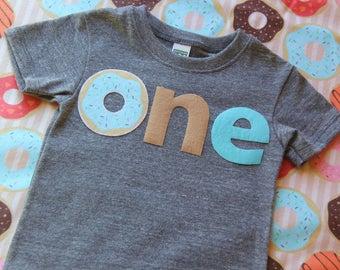 18 Months Donut First Birthday Shirt, First Birthday Shirt, Doughnut Shirt, One Shirt, Donut Party Shirt