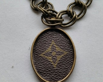 SALE....Louis Vuitton Pendant Jewelry for Necklace - Made from recycled materials