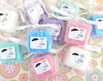 Baby Shower Favors Soap From My Shower to Yours Umbrella Label Cute Party Favors for Baby Boy or Baby Girl Mini Guest Soap Favors Bridal