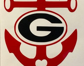Georgia Bulldogs Sic Em Dawgs Vinyl Decal