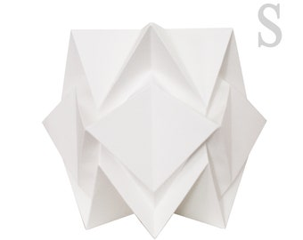 Paper origami table lamp sizes S | handmade contemporary origami lighting  | Scandinavian design perfect for your home