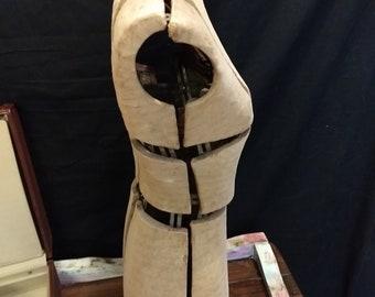 Antique adjustable dress form mannequin