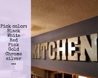 wall letters etsy. Black Bedroom Furniture Sets. Home Design Ideas