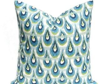 15% Off Sale Decorative pillows , blue throw pillows  pillow covers - Blue pillow - blue green pillow - Pillows - Accent Pillow - Toss pillo