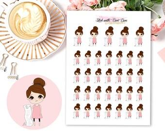 Amelie kawaii BILL DUE planner stickers || Erin Condren Life Planner, Kikki K, Plum Paper Planner