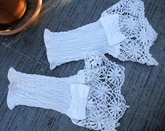 shabby, romantic boho, vintage gloves