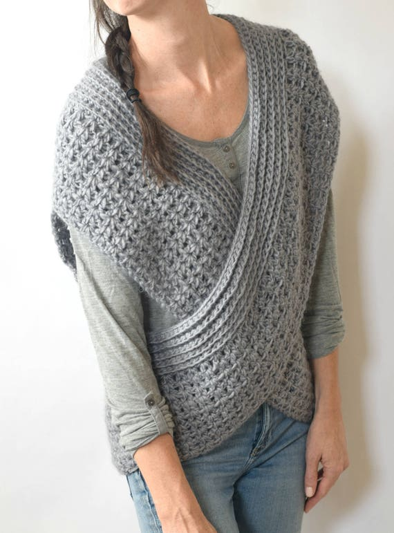 Crocheted Shrug Pattern Wrap Vest Pattern Easy Crochet Vest