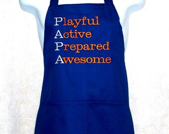 Awesome Papa Apron, Playful Fun Apron, No Shipping Charges, Ready To Ship TODAY, AGFT 239