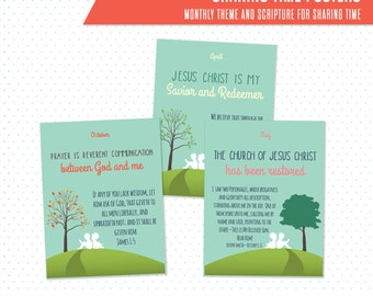 2016 LDS Sharing Time printable posters 16x20 - I know the scriptures are true (JH)