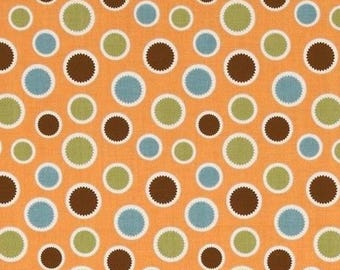Fabric patchwork mod todd Riley Blake orange dots