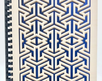 Beautiful Wooden Notebook - Arrow