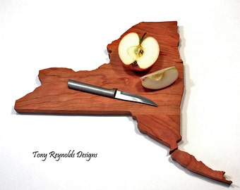 Personalized Cutting Board, New York Shaped Cutting Board, Wedding Gifts, Housewarming Gifts, Foodie Gift, Mongrammed Cutting Board Gifts