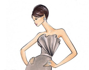 Kate Fashion Illustration Print