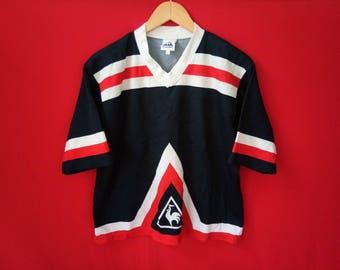 vintage le coq sportif jersey multicolour hip hop style medium mens