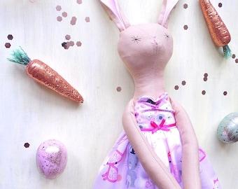 Esther, Handmade Rabbit Doll