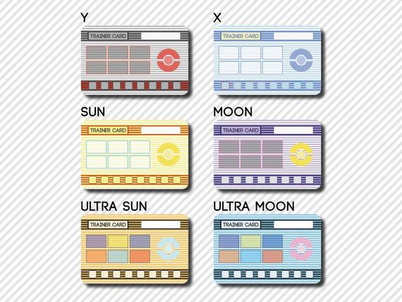 Custom Pokémon Trainer Card Hoenn Design - Pokemon trainer card template
