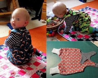 Organic cotton reversible baby/child harem romper  sizes 0 to 6 years reversible dungarees organic childrens clothing unisex babywear