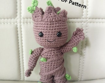 PATTERN - Baby Groot (vol2) - Amigurumi Crochet Pattern