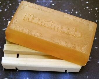 Vanilla Glycerin Soap-Handmade-Large Farmers Market Bar-Eco-Friendly Shrink Wrap