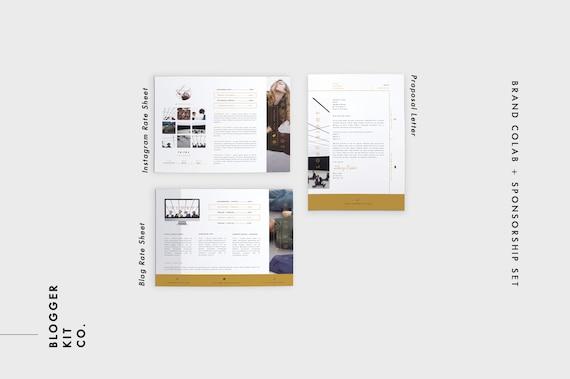 Media Kit Schablone Sponsoring Set 10 Seiten Pack Adobe
