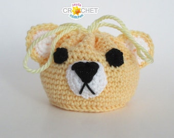 Crochet Teddy Bear Drawstring Bag - PDF Pattern - Jayda InStitches