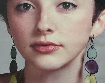 3-color earrings