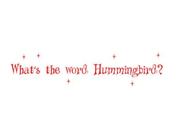 The Big Bang Theory Card  - What's the Word Hummingbird - Inspired Geekery for Valentines Day